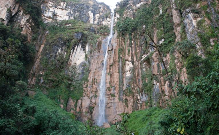 waterfall in Peru