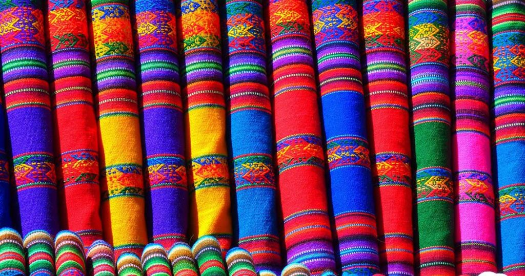 Peruvian scarves