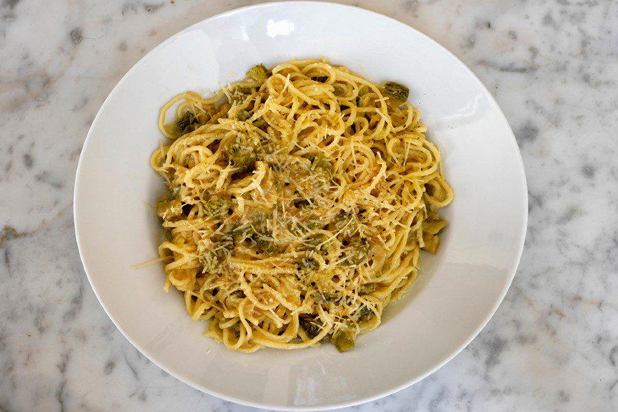 Pasta de Zucchini y manchego