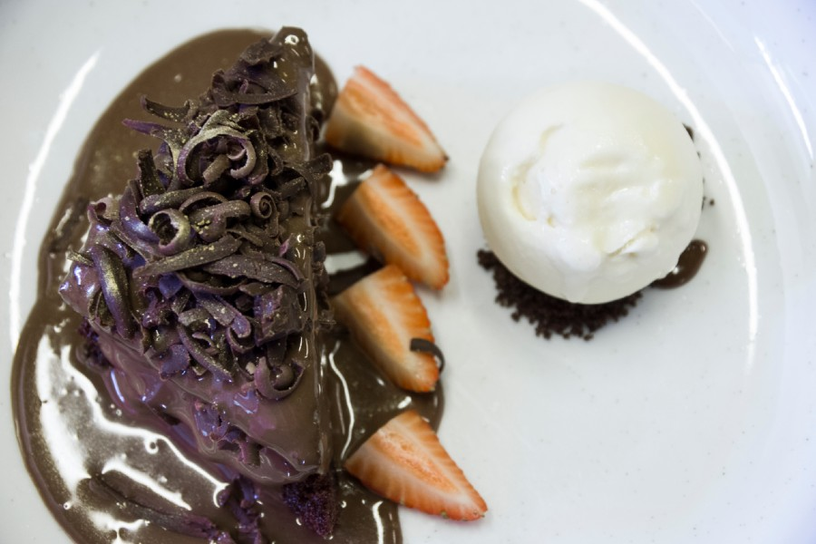 chocolate cake wallqa