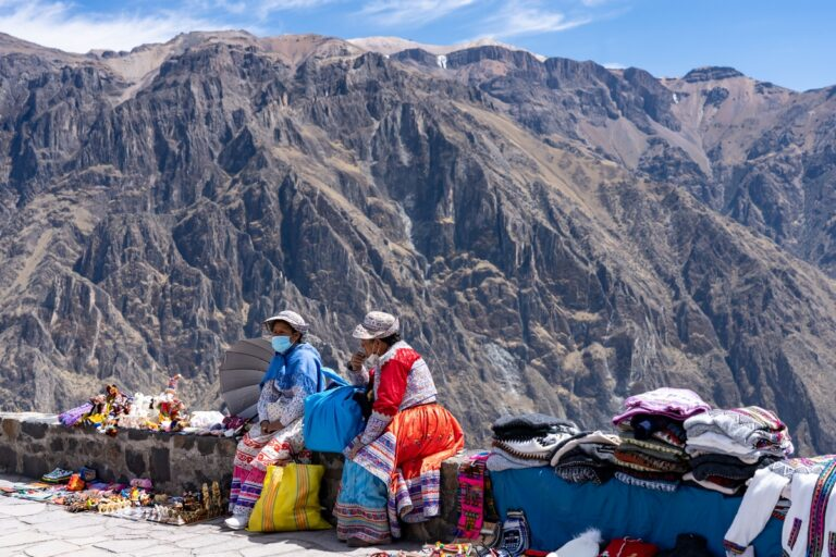 Native Vendors at Colca canyon