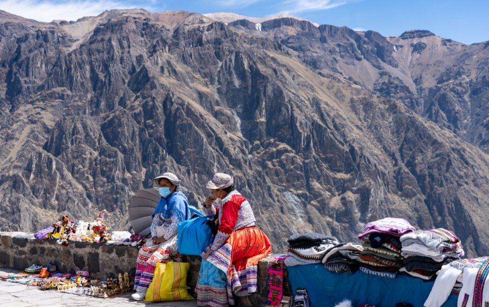 Native Vendors at Colca canyon