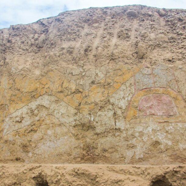 ancient wall painting in La Libertad Peru