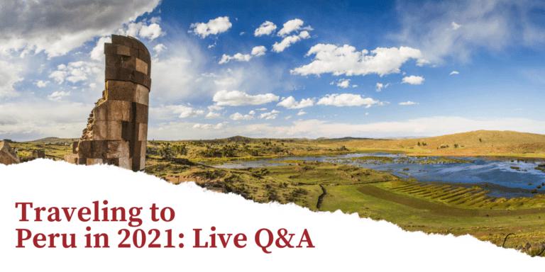travel to peru Q&A live chat